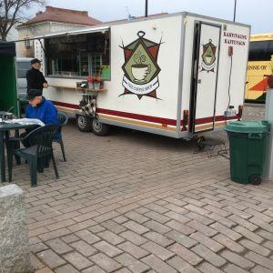 Kaffevagn på Borgå torg