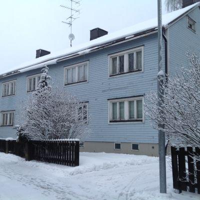 Ett hus på Sibeliusbulevarden i Borgå