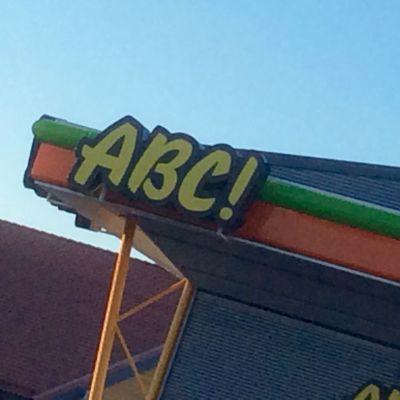 ABC-skylt.