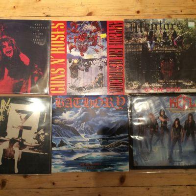 Inköp från skivmässa i Borgå