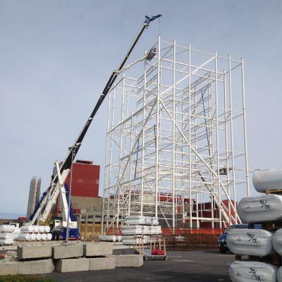 Nya tornet vid Rani Plast blir 50 meter högt.