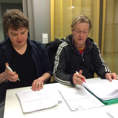 käsikirjoittaja Antti Heikkinen ja ohjaaja Ola Tuominen