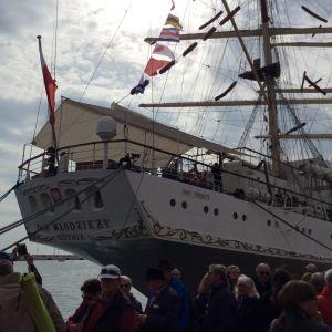 Sète'in meripäivät 2016 Etelä-Ranskassa, puolalaisalus vierailulla.