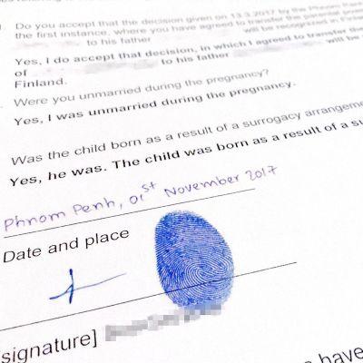 Sormenjälki allekirjoituksena