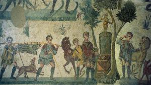 Förberedelser inför en romersk bankett efter jakt.