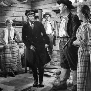 Kohtaus elokuvasta Tukkijoella (1951)