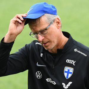 Fotbollsherrarnas förbundskapten Markku Kanerva.