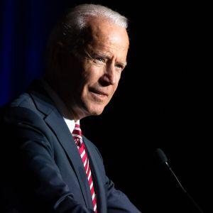 Joe Biden höll tal vid en partitillställning i Delaware den 16 mars 2019.