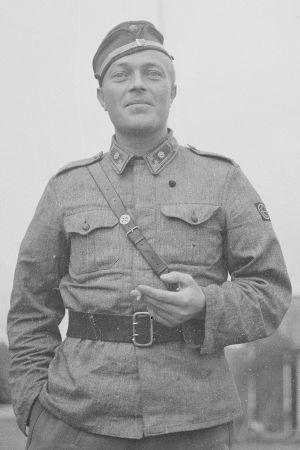 1/JR49:n komentaja, majuri Veikko Toivio Kaskiselässä syyskuussa 1944