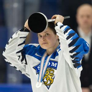 Jenni Hiirikoski under ishockey VM 2019.