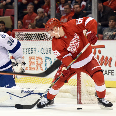Teemu Pulkkinen, Detroit Red Wings, våren 2015.