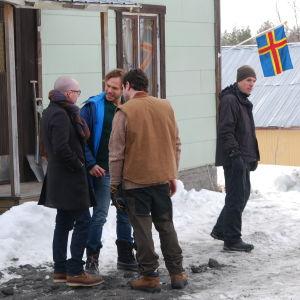 Bakom kulisserna på inspelning av Tjockare än vatten, säsong 2.