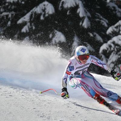 Tina Weirather vann damernas super-G i Garmisch 2015.