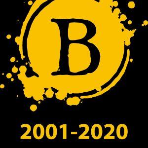 En logo med bokstaven B