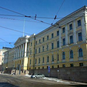Statsrådsborgen vid senatstorget i Helsingfors.