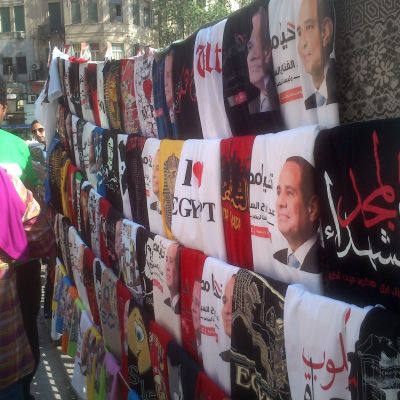 Tahrirtorget inför presidentvalet 2014.