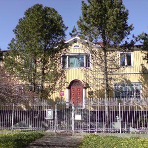 Rysslands konsulat med galler för fönstren i Mariehamn