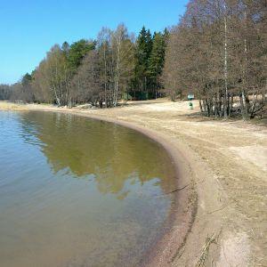 Munksnäs badstrand i Helsingfors.