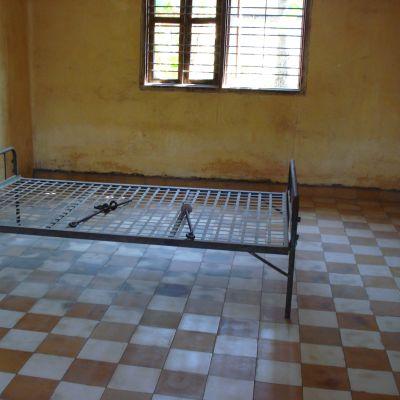 Förhörsrum i fängelset Tuol Sleng