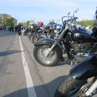 Motorcyklist träff i Åbo