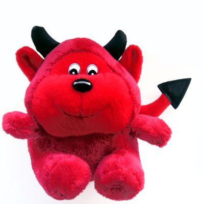 ett rött djävulskramdjur