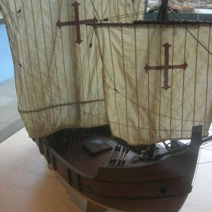 La Pinta, yksi Kolumbuksen ensimmäisen tutkimusmatkan kolmesta purjealuksesta (pienoismalli).