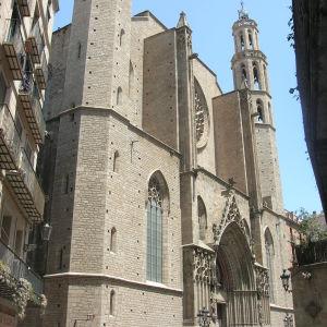 Santa María del Mar -katedraalin fasadi.