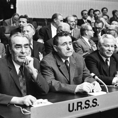 Leonid Brezhnev ja politbyroon (1973) jäsen Andrei Gromyko.