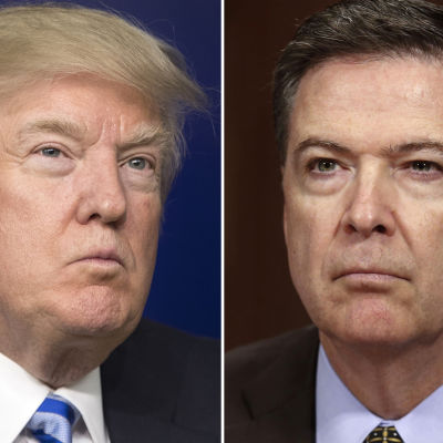 Donald Trump och James Comey.