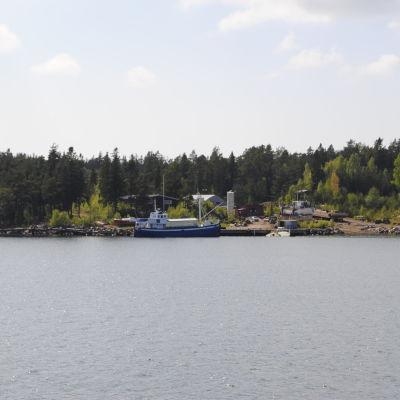 Arkivbild på varvet i Korpo.
