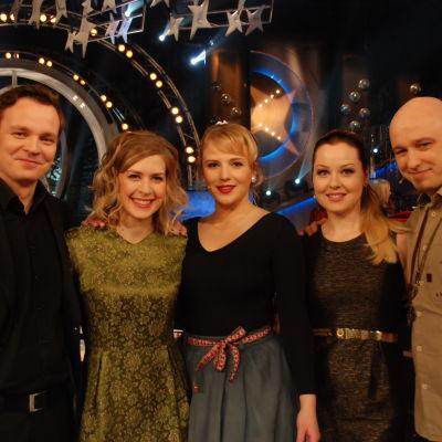 Ville Leinonen, Kanerva, Yona ja Sansa kisaamassa.