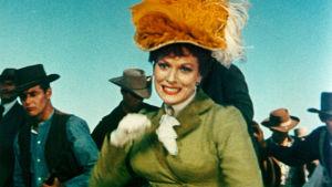Maureen O'Hara elokuvassa Lännen hurjapäät