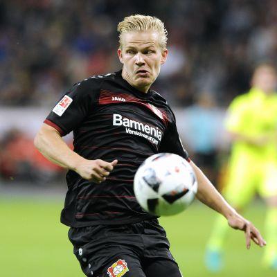 Joel Pohjanpalo spelar för Leverkusen i Tyskland.