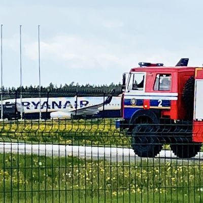 Ryanairplan i Minsk