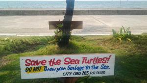 Kyltti Save The Sea Turtles