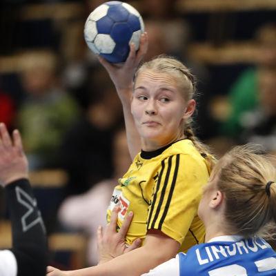 Ellen Voutilainen i farten.