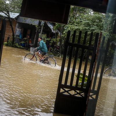 Översvämning i Vietnam den 6.11.2017.