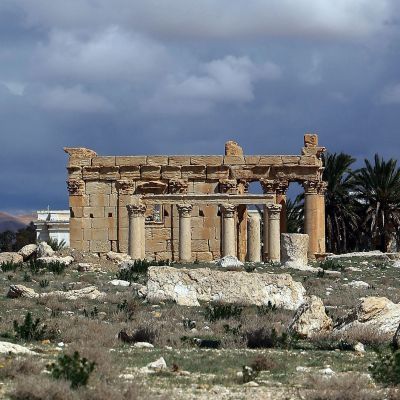 Baal Shamintemplet i världsarvsstaden Palmyra i Syrien.