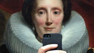 Målning med mobiltelefon.