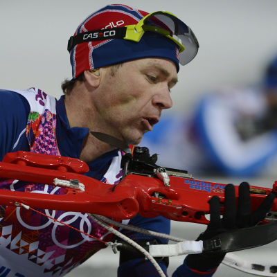 Ole-Einar Björndalen vid OS 2014.