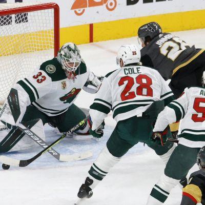 Vegas Mattias Janmark gör mål på Minnesota.