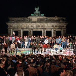 Framför Brandenburger Tor