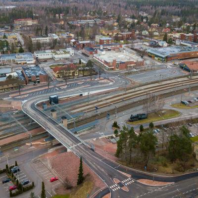 karis järnvägsstation från luften