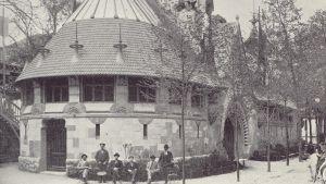 Finlandspaviljongen i Paris år 1900.
