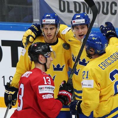 Sveriges ishockeyherrar firar mål, maj 2016.