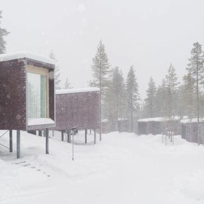 Arctic Treehouse Hotell i Rovaniemi representerar ny arkitektur.