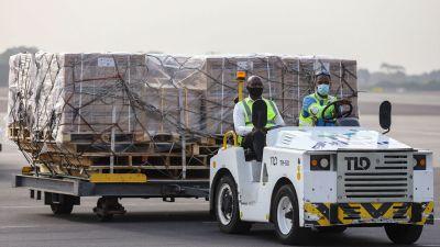 Vaccin levereras till Ghana inom ramen för Covax-projektet