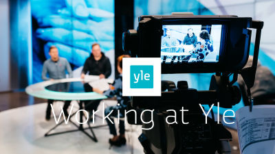 Yle's studio and text Working at Yle