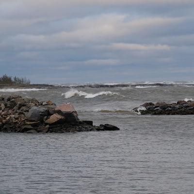 Aila-myrsky Pyhäjoella Pohjois-Pohjanmaalla.