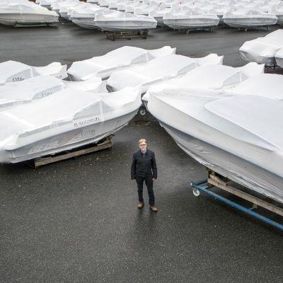 Toimitusjohtaja Raimo Sonninen, Bella-Veneet Oy.